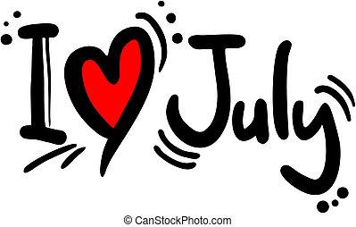 Love july - Creative design of love July