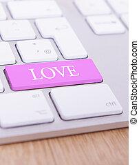 Love key - A keyboard with the letters %u2018Love%u2019 on a...