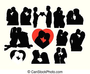 Love Kiss Silhouettes