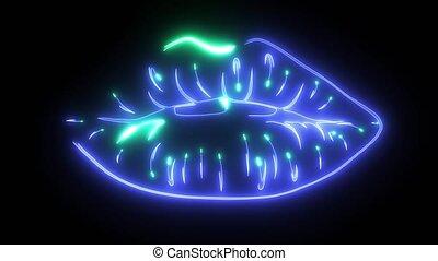 Love kiss woman laser animation