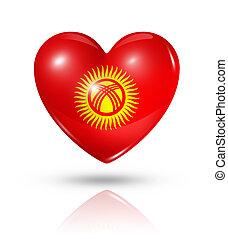 Love Kyrgyzstan, heart flag icon