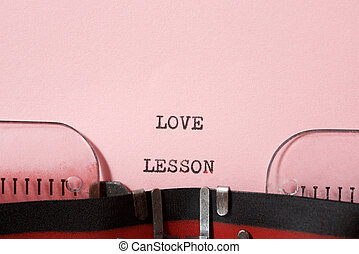 Love lesson phrase