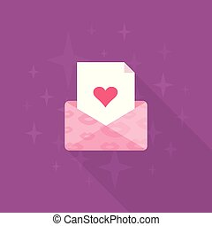 Love letter - A letter with love. Vector illustration