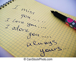 love-letter - a note and a pen