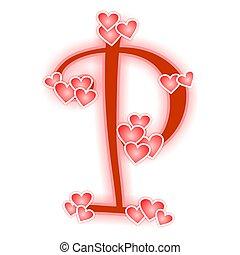 Love Letter Alphabet P