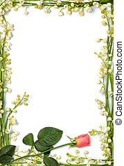 Love letter background - Love letter frame made from flowers...