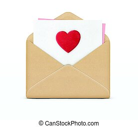 Love letter concept - Vector illustration of love letter...