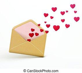 Love letter concept - Vector illustration of love letter...