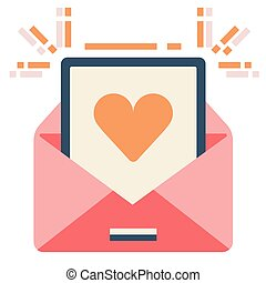 Love letter flat illustration
