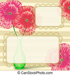 Love letter frame with flowers