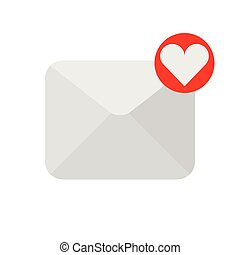 love letter icon. vector illustration. flat style