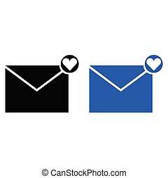 love letter icon. vector illustration. glyph style