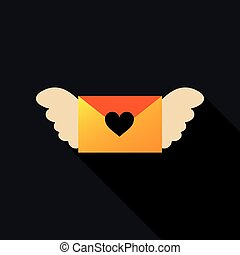 love letter icon with hearts