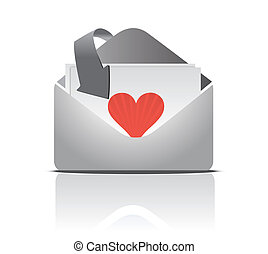 love letter isolated over a white background