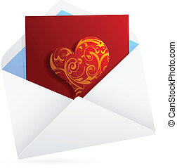 Love letter. St. Valentines Day related clip-art