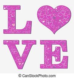 Love letter, vector