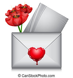 Love letter - Vector illustration of love letter