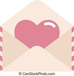 Love letter with heart illustration
