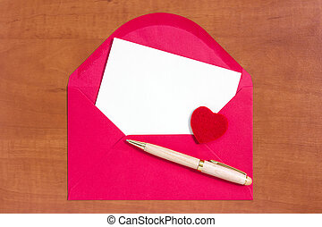 Love letter with space for your own text