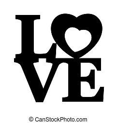 love., lettering
