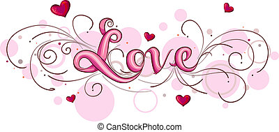 Cute Lettering Featuring the Word Love