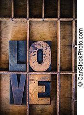 Love Letterpress Word