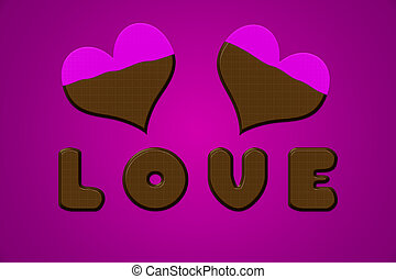 Love letters hearts chocolate valentine pink