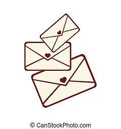 love letters mail icon vector graphic - mail love letter...