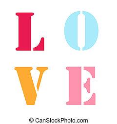 LOVE Letters Stencil