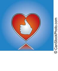 Love Like Concept Illustration