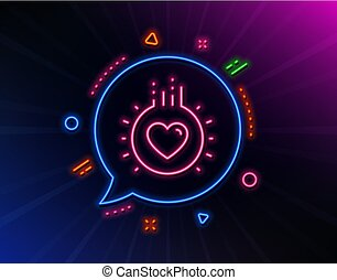 Love line icon. Heart sign. Dating profile. Vector