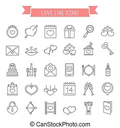Love Line Icons