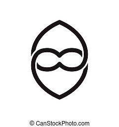 Love line Linked infinity logo icon vector