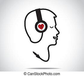 love listening to music headphones