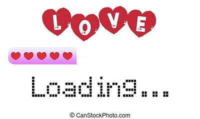 Love Loading Bar, Progress Bar For Valentine S Day, Marriage, Engagement, Declaration Of Love - White Background - 4K Ultra