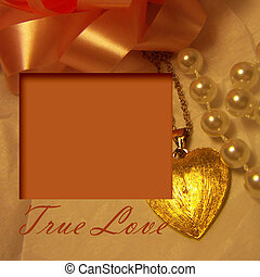 love locket picture frame - true love locket and pearls on...