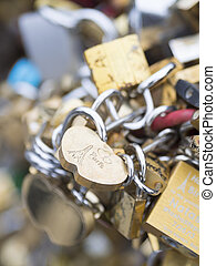 Love locks in Paris bridge symbol of friendship and romance