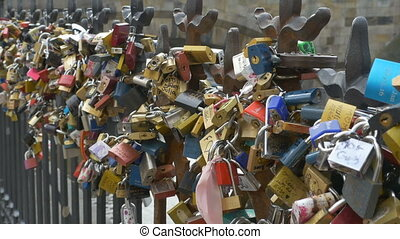 Love Locks in Prague - Eternal promissed love locks in...