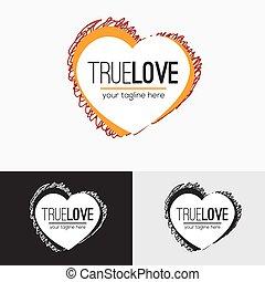 Love logo concept.
