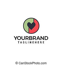 love logo design concept template vector