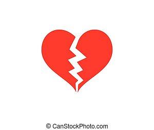 Love Logo Vector icon illustration