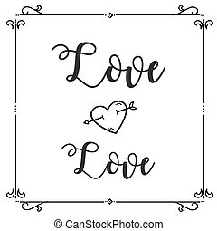 Love Love Heart Arrow Square Frame Background Vector Image