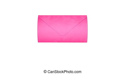 Love Mail Pink - Pink letter, flying in and filling the...