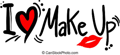 Creative design of love makeup