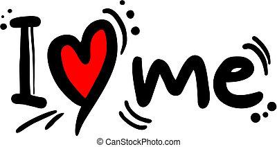 Love me - Creative design of love me