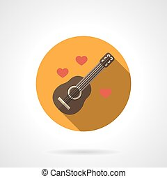 Love melody colorful round flat vector icon