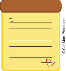 Love memo paper vector illustration