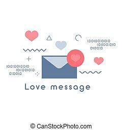 Love message icon vector illustration
