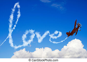 Love message in the sky