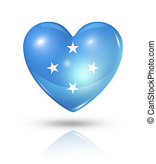 Love Micronesia, heart flag icon